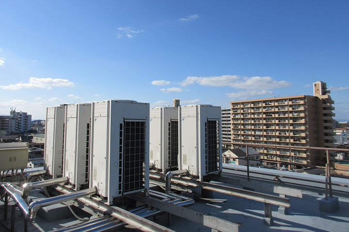 Air-conditioning Installation Work at an Office Building